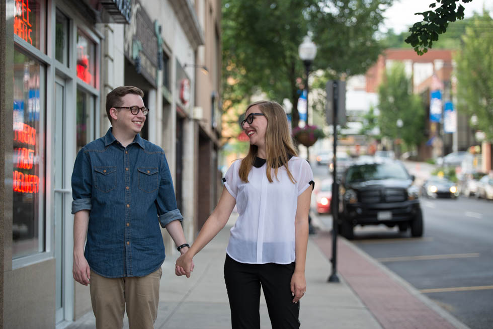 morgantown west virginia engagement photo