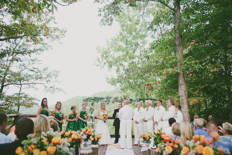 Adventures On The Gorge Outdoor Wedding