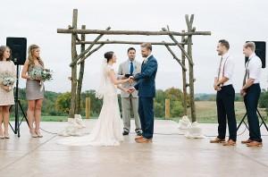 wv wedding ceremony at herot hall