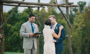 wedding ceremony at herot hall wv