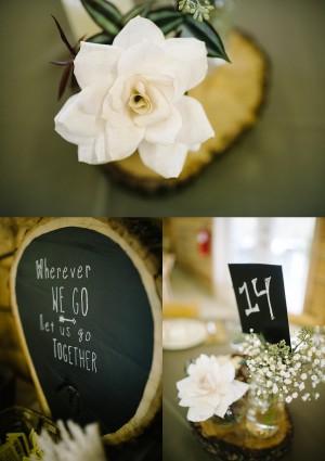 modern wv wedding decor