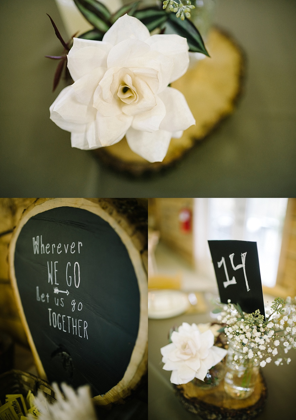 modern wv wedding decor