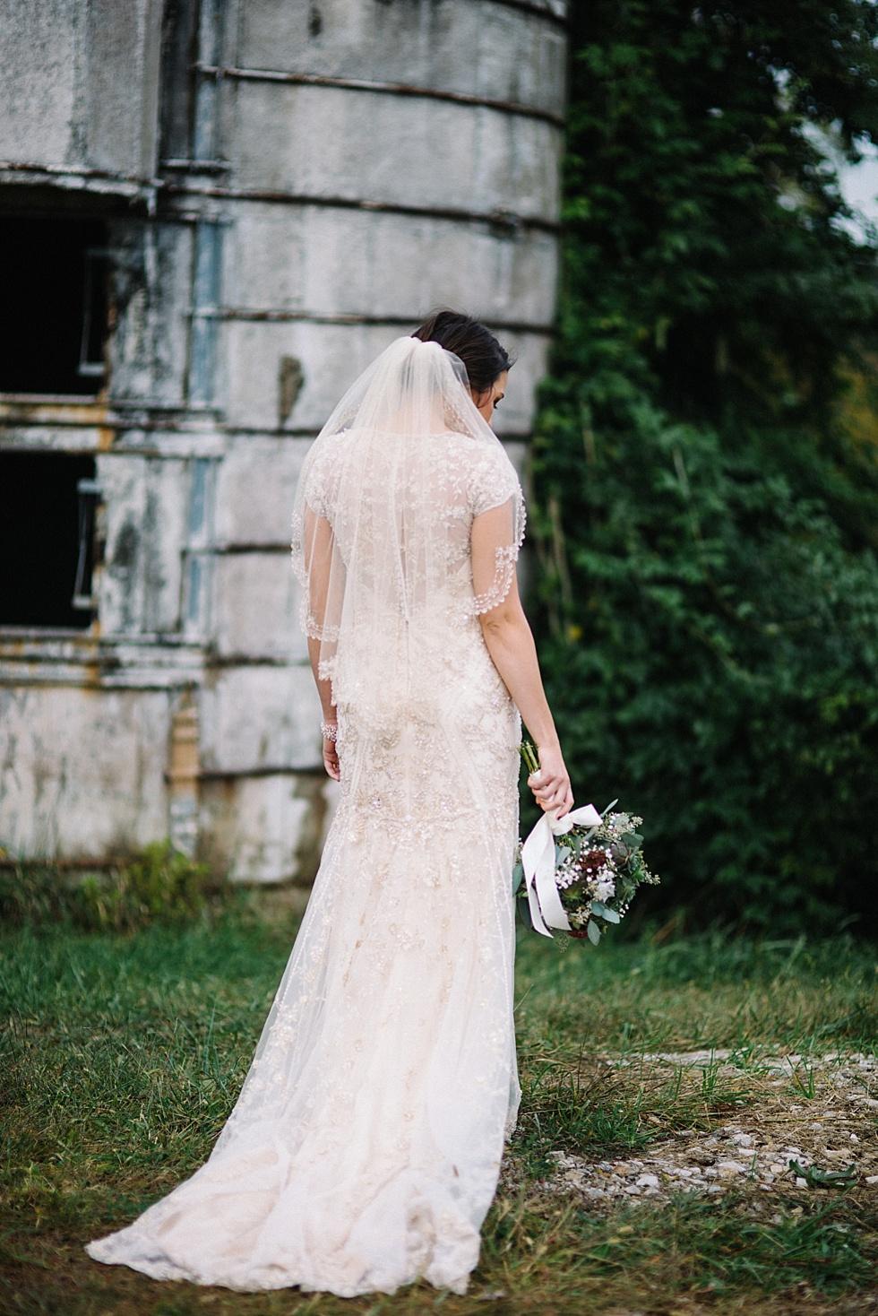modern wv bridal portrait
