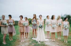 west virginia wedding party photo