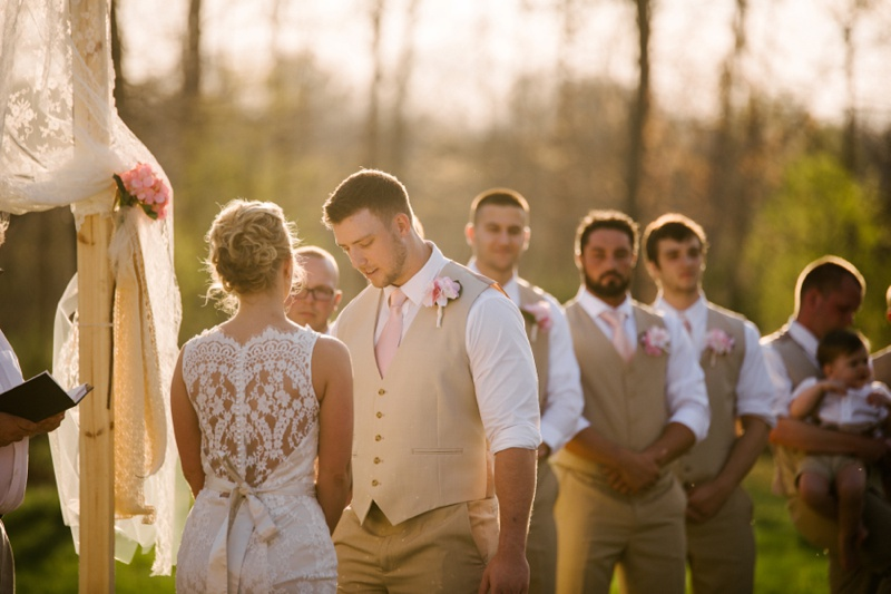 knotty pine lodge wedding photo