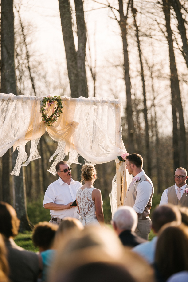 love this knotty pine lodge wedding photo