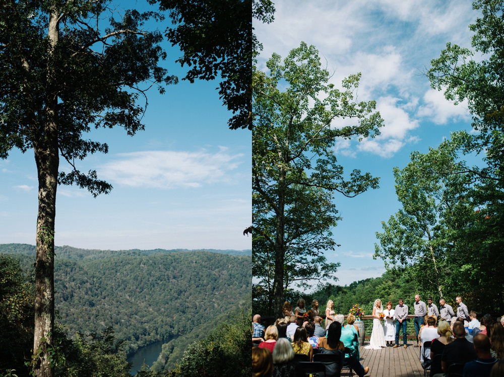 ceremony photos at adventures on the gorge