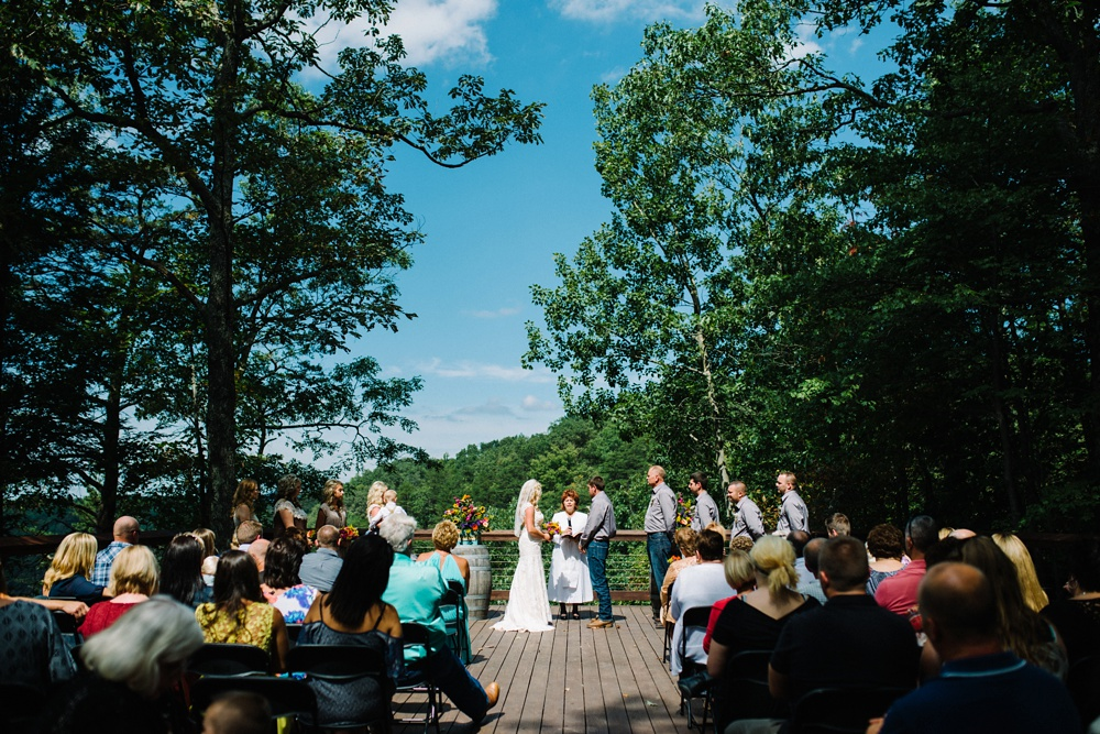adventures on the gorge ceremony photo