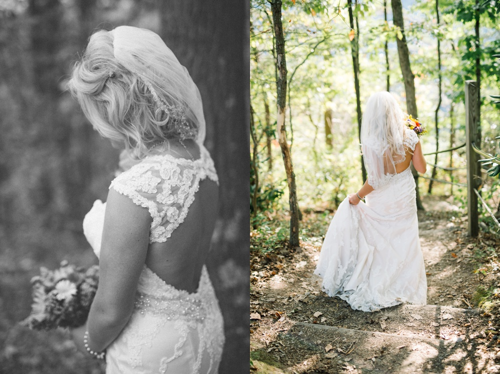 bridal photos at adventures on the gorge