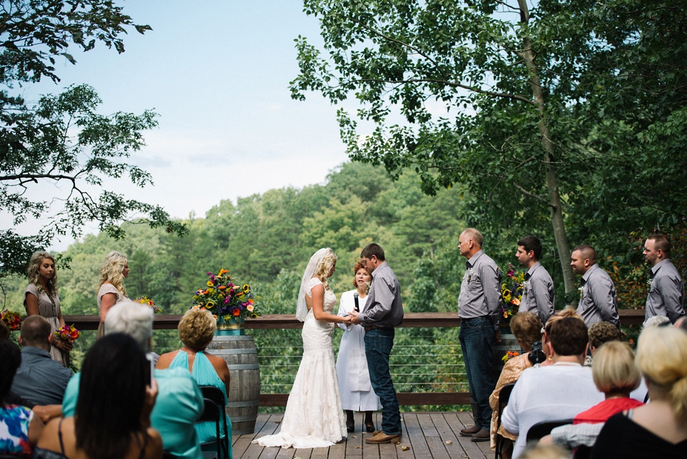 ceremony photo at adventures on the gorge