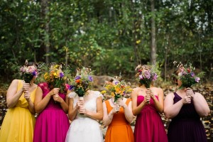 cheat lake bridal party photo