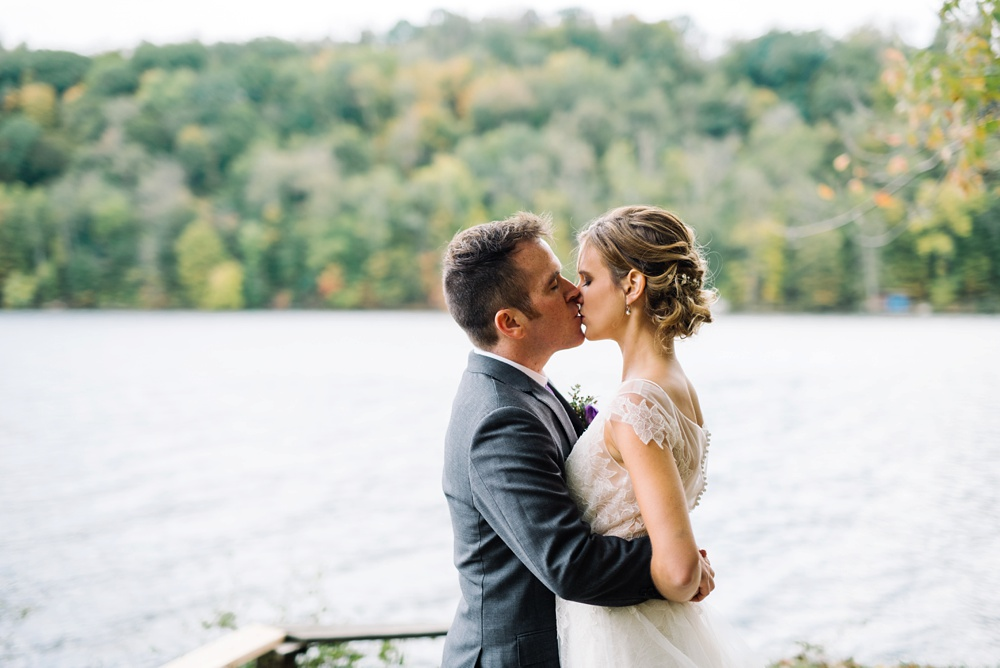 cheat lake morgantown wedding photo