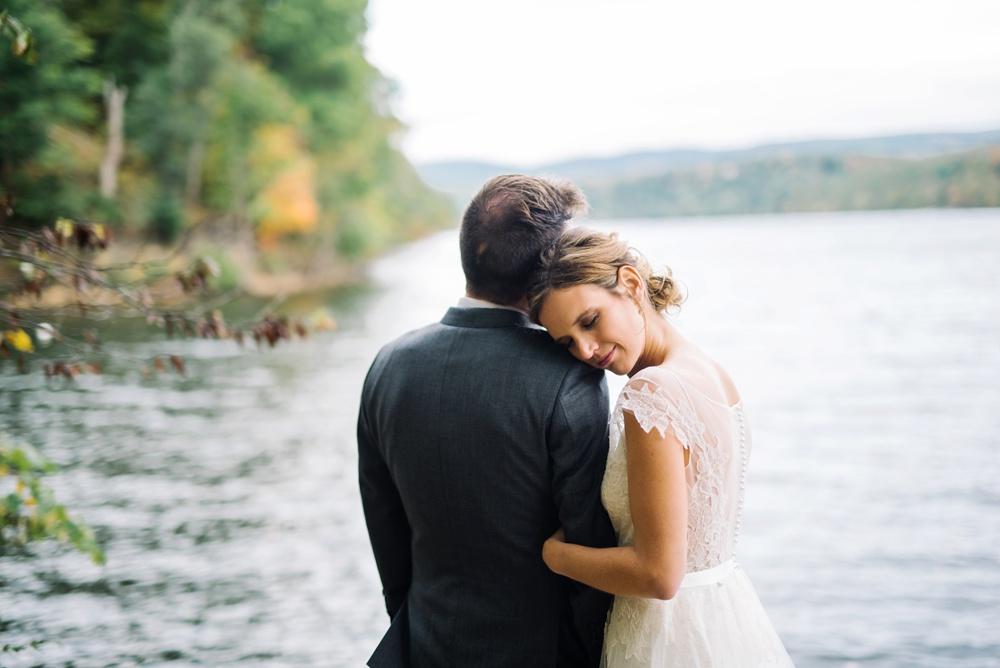photo of a cheat lake wedding