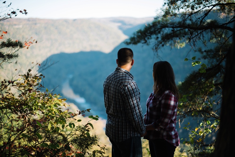 a photo of a couple on the endless wall trail