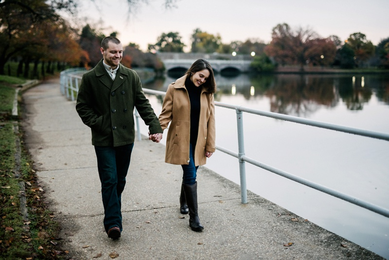 engagement photo in washington dc