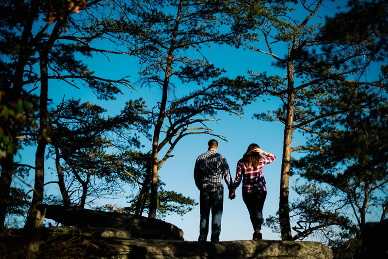 photo of couple on endless wall trail
