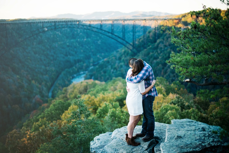 engagement photo in west virginia