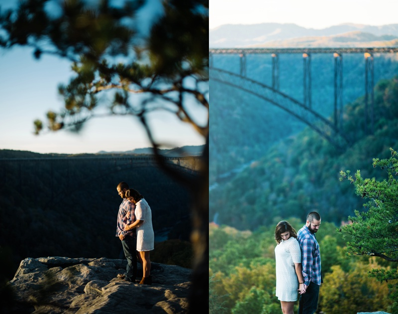 new river gorge engagement session