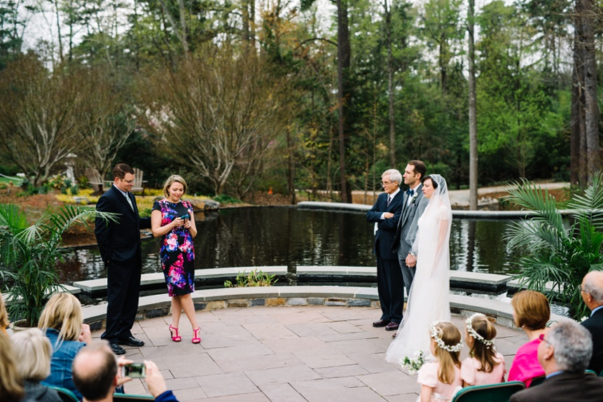 duke gardens ceremony photo