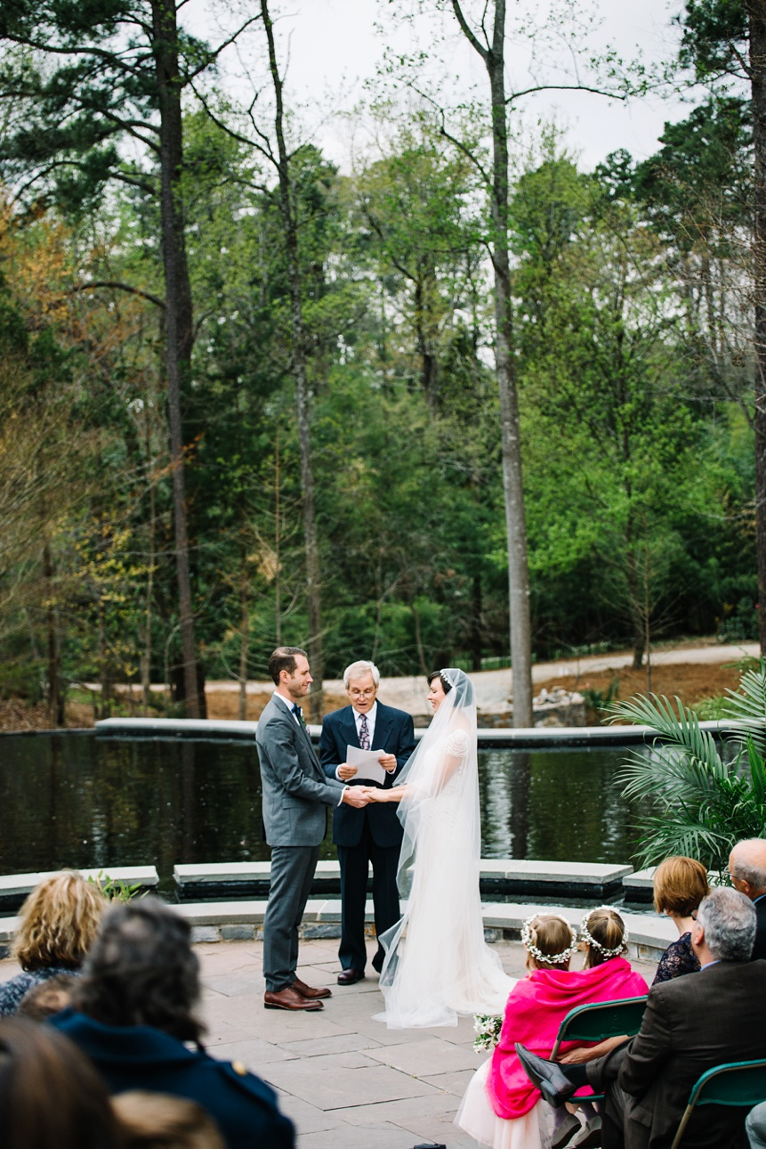 wedding ceremony at duke gardens