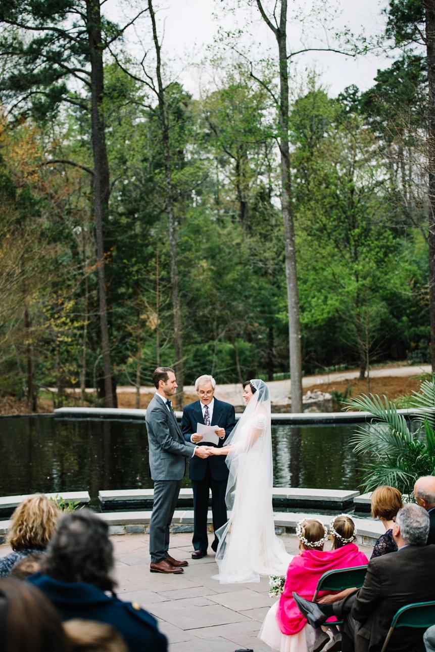 wedding ceremony at duke gardens