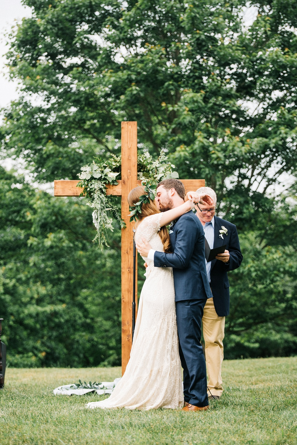 wv backyard wedding photo