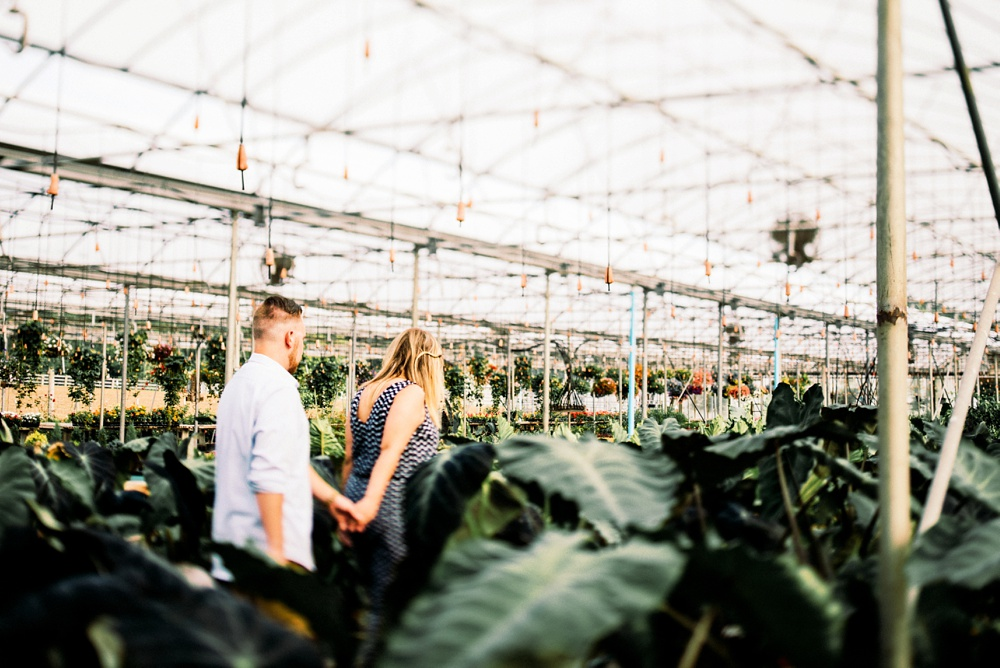 greenhouse engagement by best wv engagement photographer