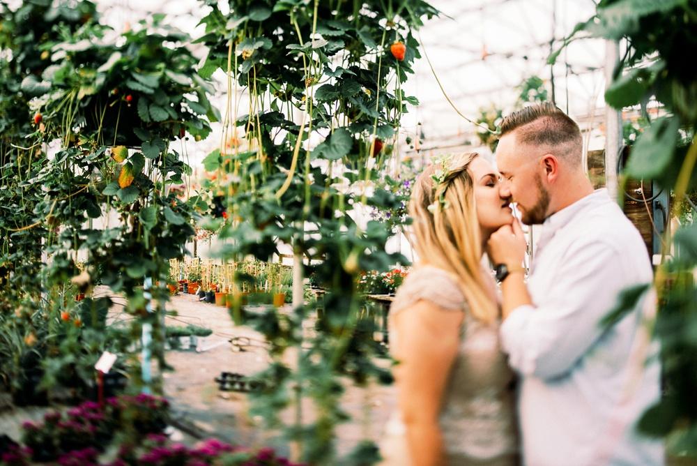 wv greenhouse engagement photo
