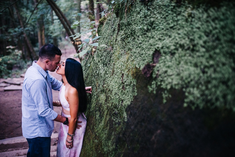 hocking hills engagement photos