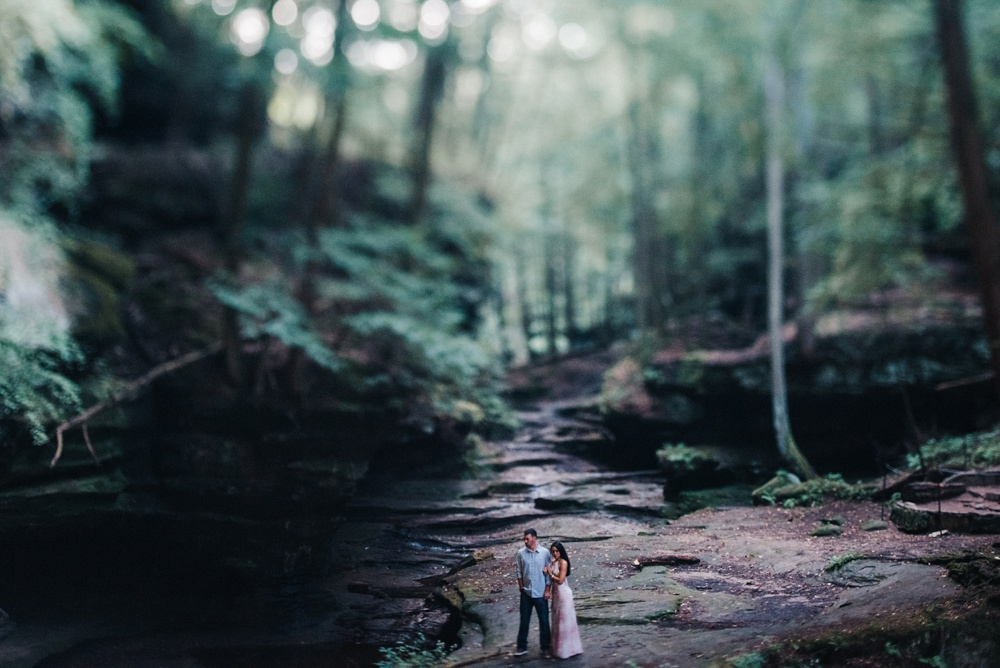 hocking hills engagement