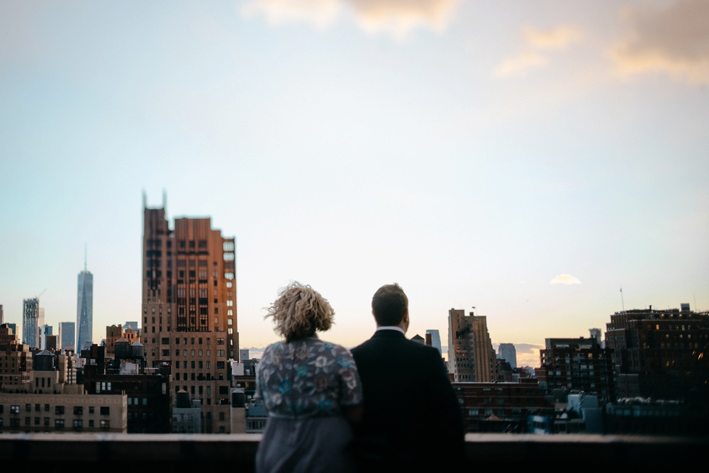 rooftop engagement photo NYC