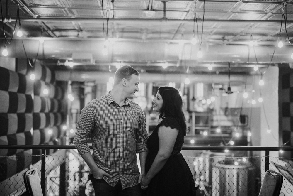 engagement session at the peddler in huntington wv