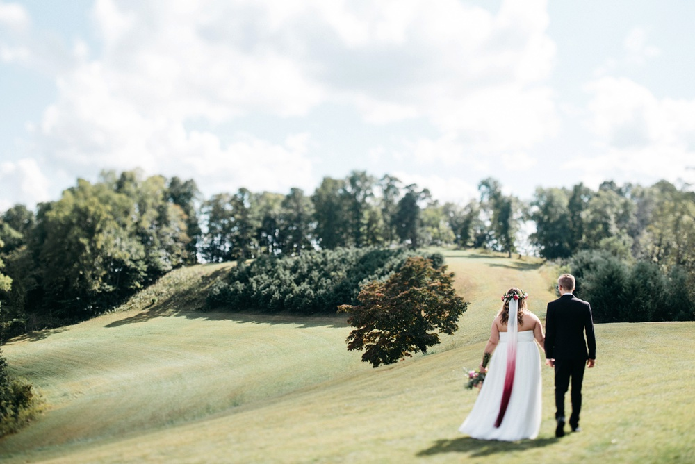 gorgeous wedding on a wv farm
