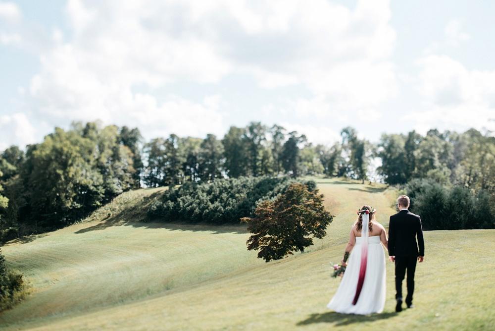 gorgeous wedding on a wv farm