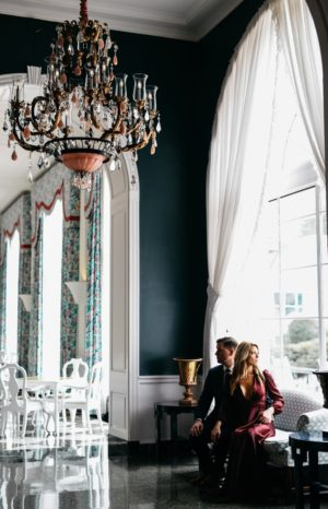 engagement photo at the greenbrier