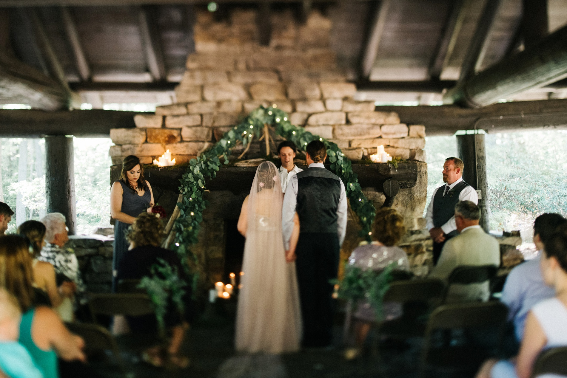 coopers rock wedding photo
