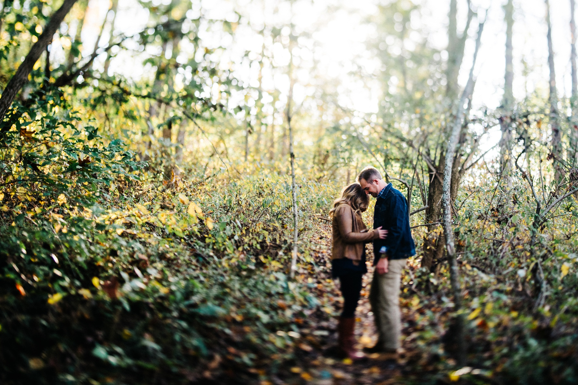 fall engagement portraits in huntington wv