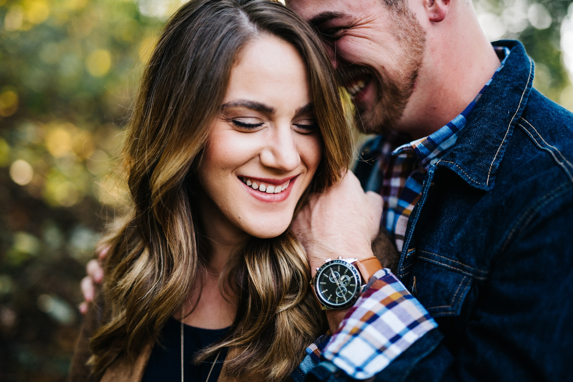 romantic fall engagement in huntington wv