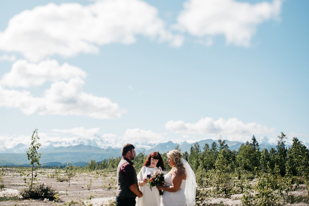 Alaska destination wedding photo