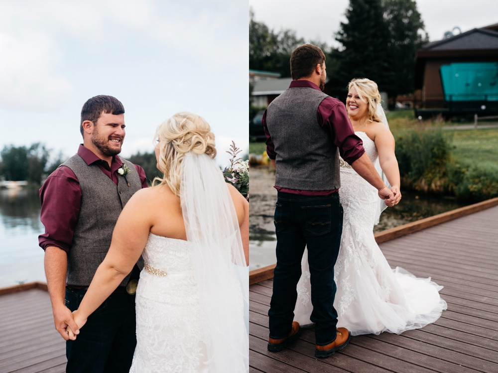 alaska wedding first look
