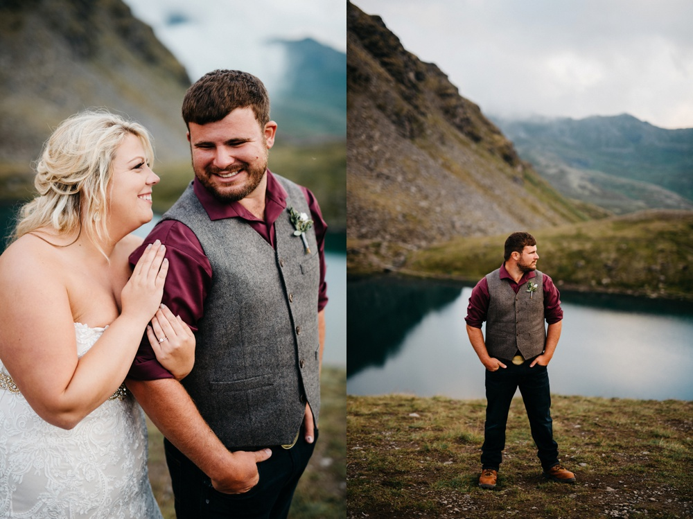 alaska wedding portraits