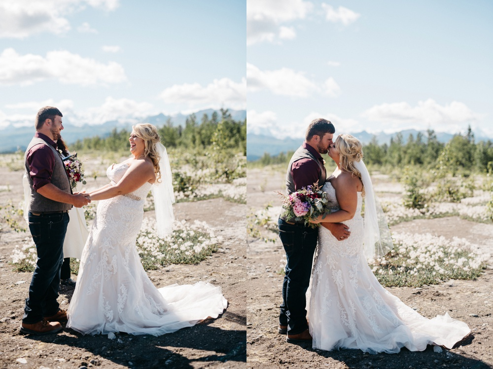 anchorage alaska wedding photo