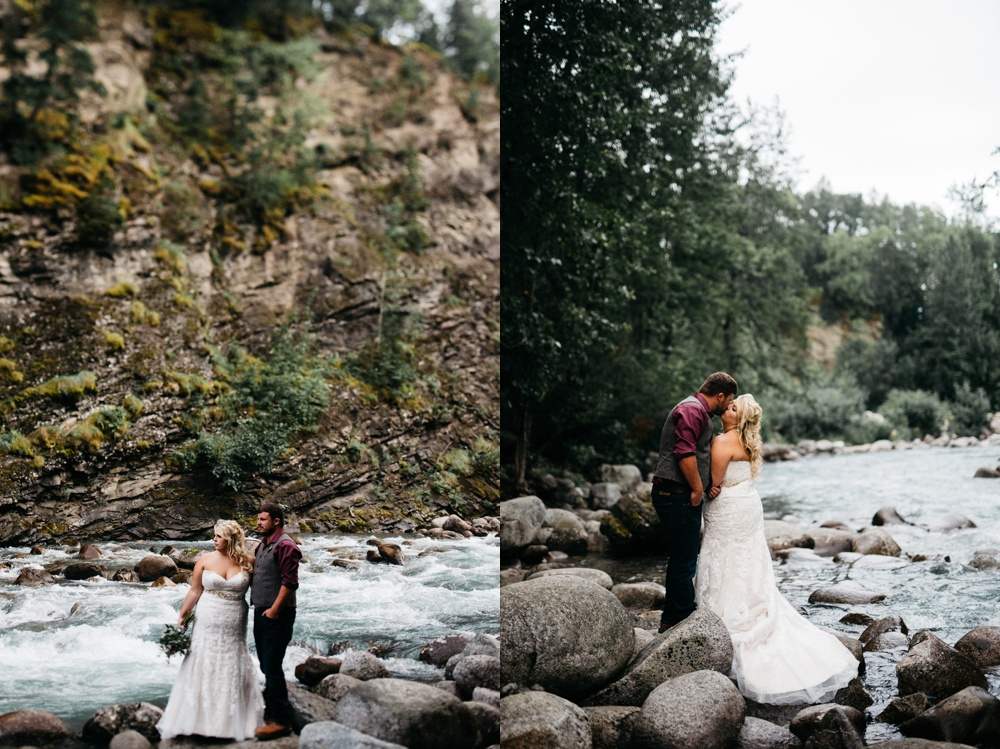 romantic anchorage alaska wedding photo