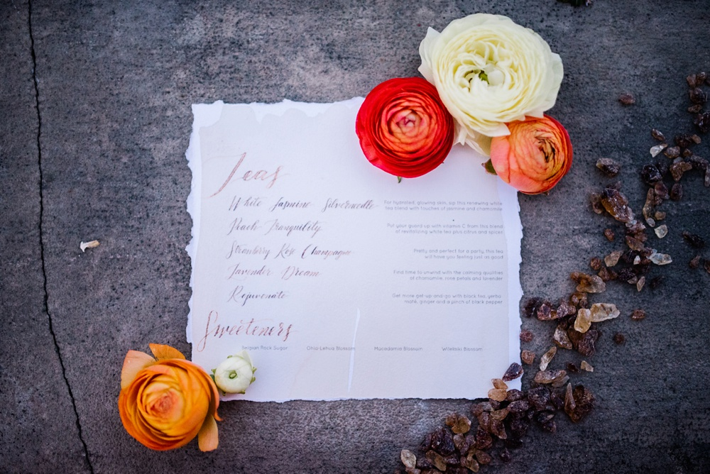 loose leaf tea styled shoot