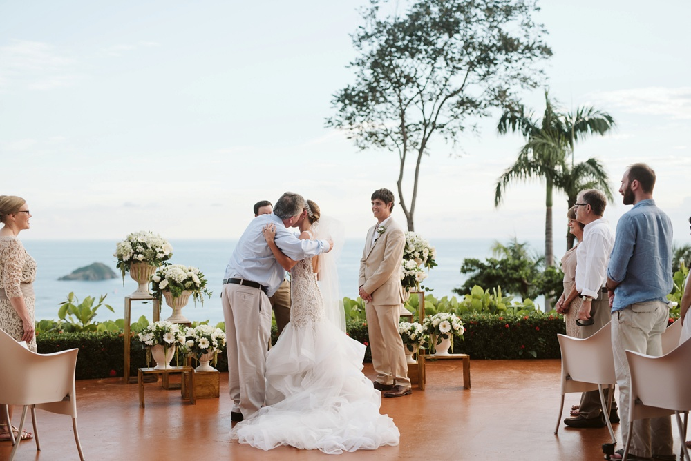 ceremony photo at hotel la mariposa