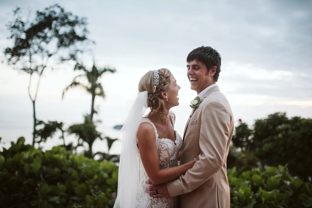 couples wedding photo at hotel la mariposa in costa rica