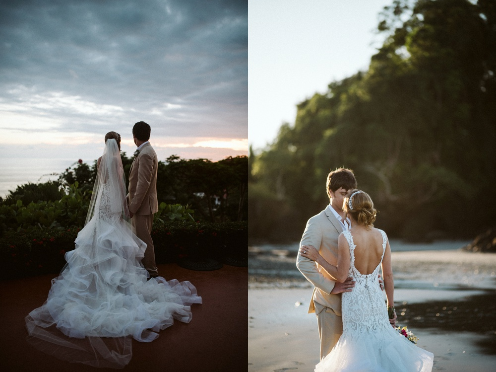 wedding portraits taken in costa rica