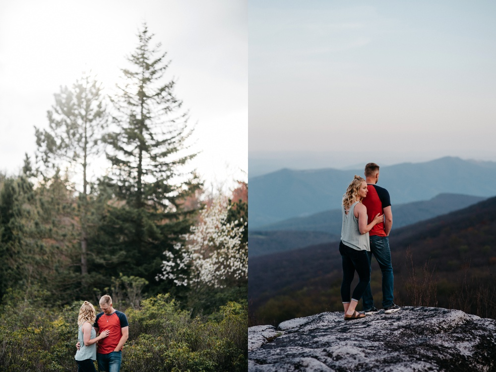 engagement photography at dolly sods in wv