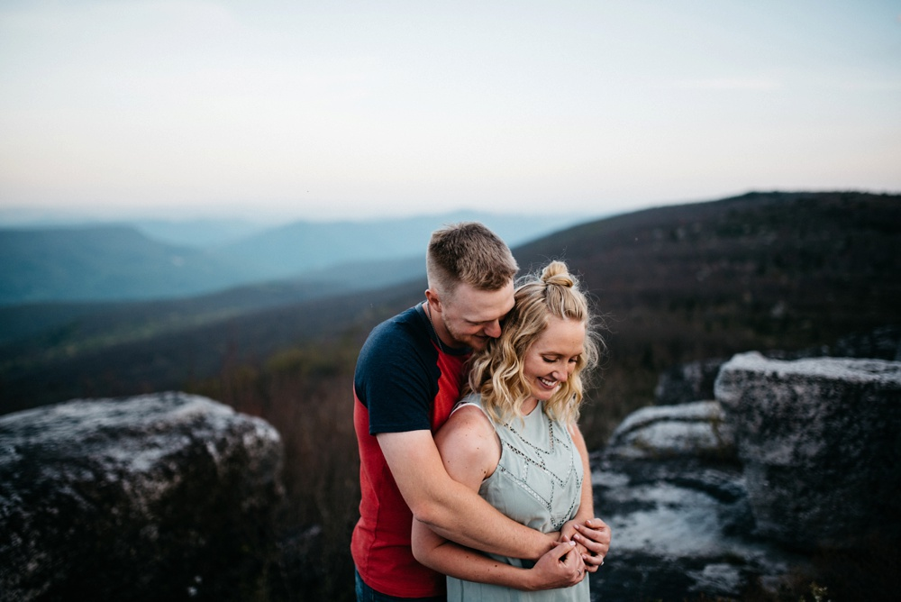 engagement photography at dolly sods in West Virginia