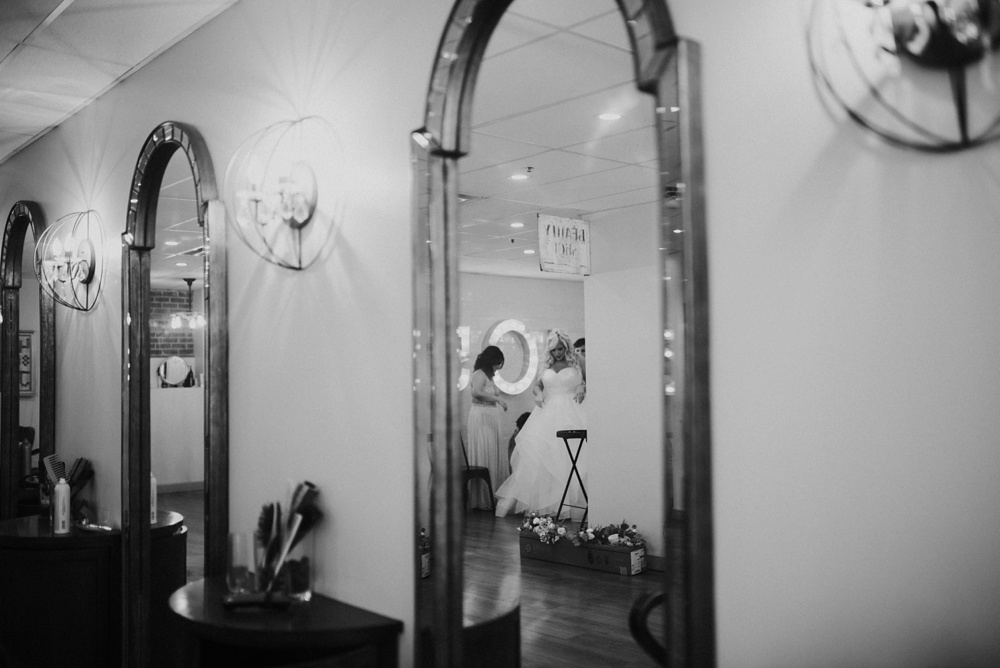 wedding photo at salon 405 in wv